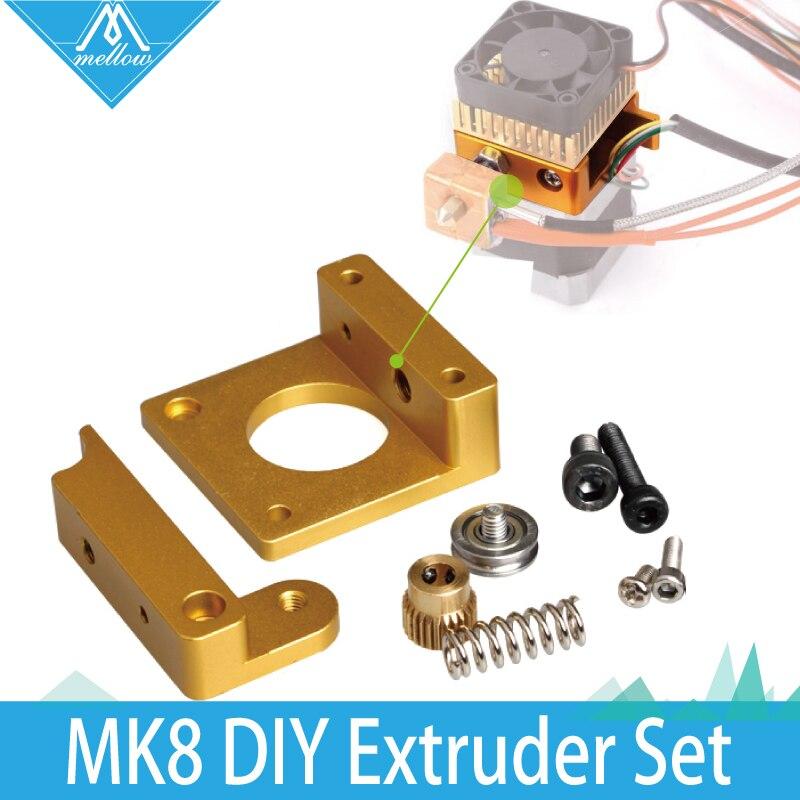3D printer extruder full metal extrusion head MK8 DIY Aluminium block assemblies extruder 3D printer printing