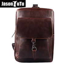 men backpack leather school bags men's travel bags rucksack 2018 Preppy Style Daily backpack Black  back pack mochila B104