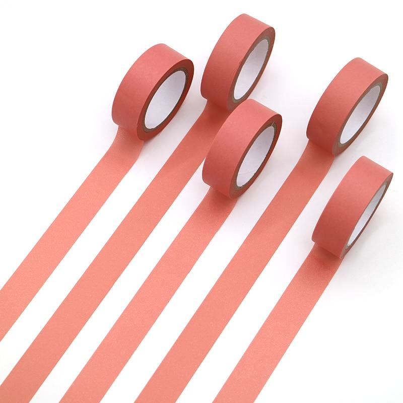 1 PCS Refreshing Kawaii Candy Watermelon Red Color Washi Tape Pattern Masking Tape Decorative Scrapbooking Office Adhesive Tape