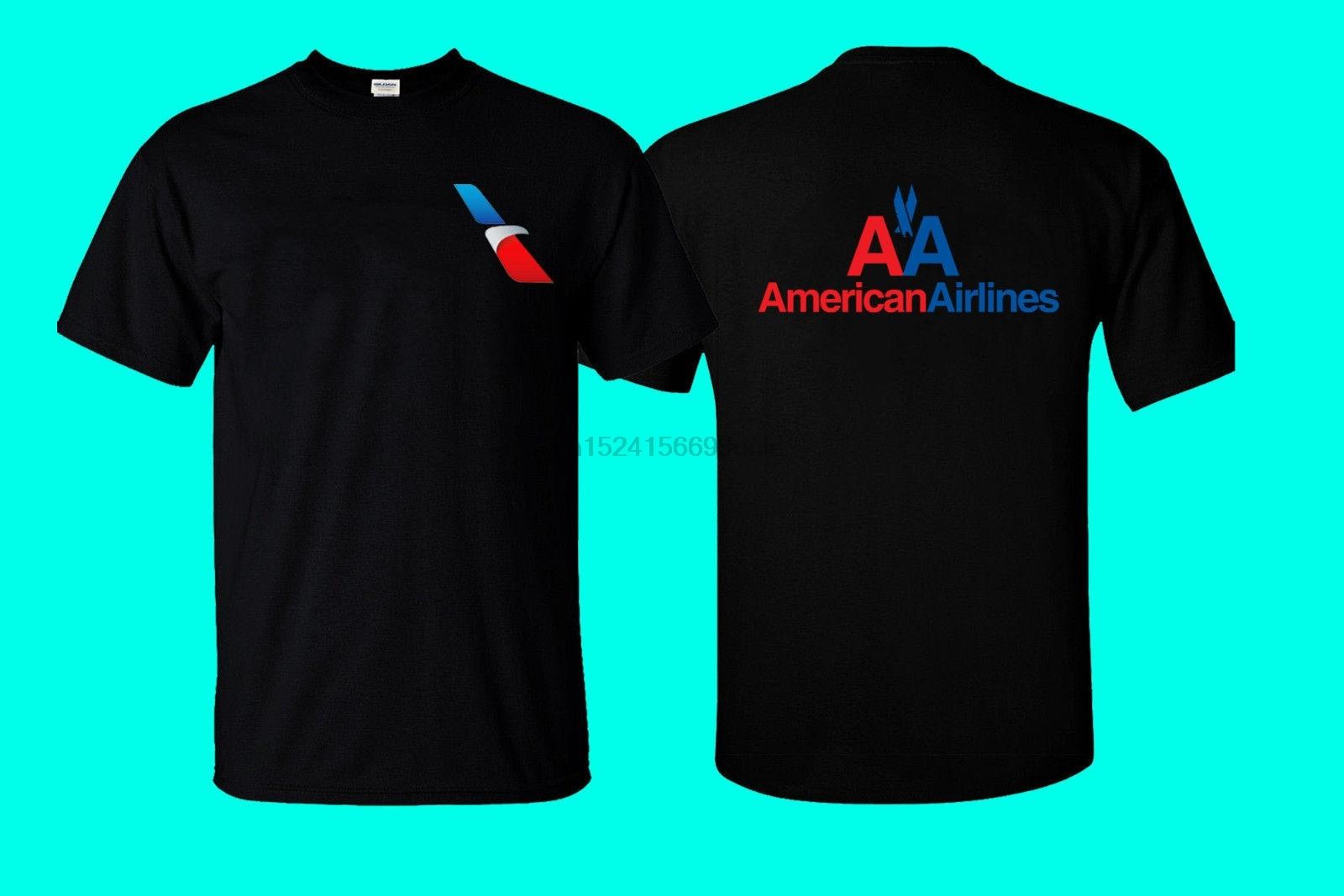 American Airlines Logo Crew Neck Mens Clothing Gildan T