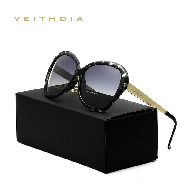 2016 VEITHDIA Retro Sunglasses Women Brand Designer Sexy Ladies Sun Glasses Eyewear Accessories  oculos de sol feminino 8012