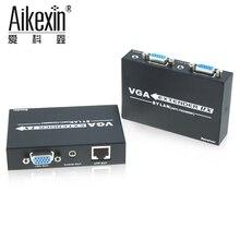Aikexin 1000ft VGA Extender 300 m com Áudio, VGA UTP Extender sobre LAN Cat5e/6 RJ45 1080 P até 1000ft-1 Locais e 2 remoto