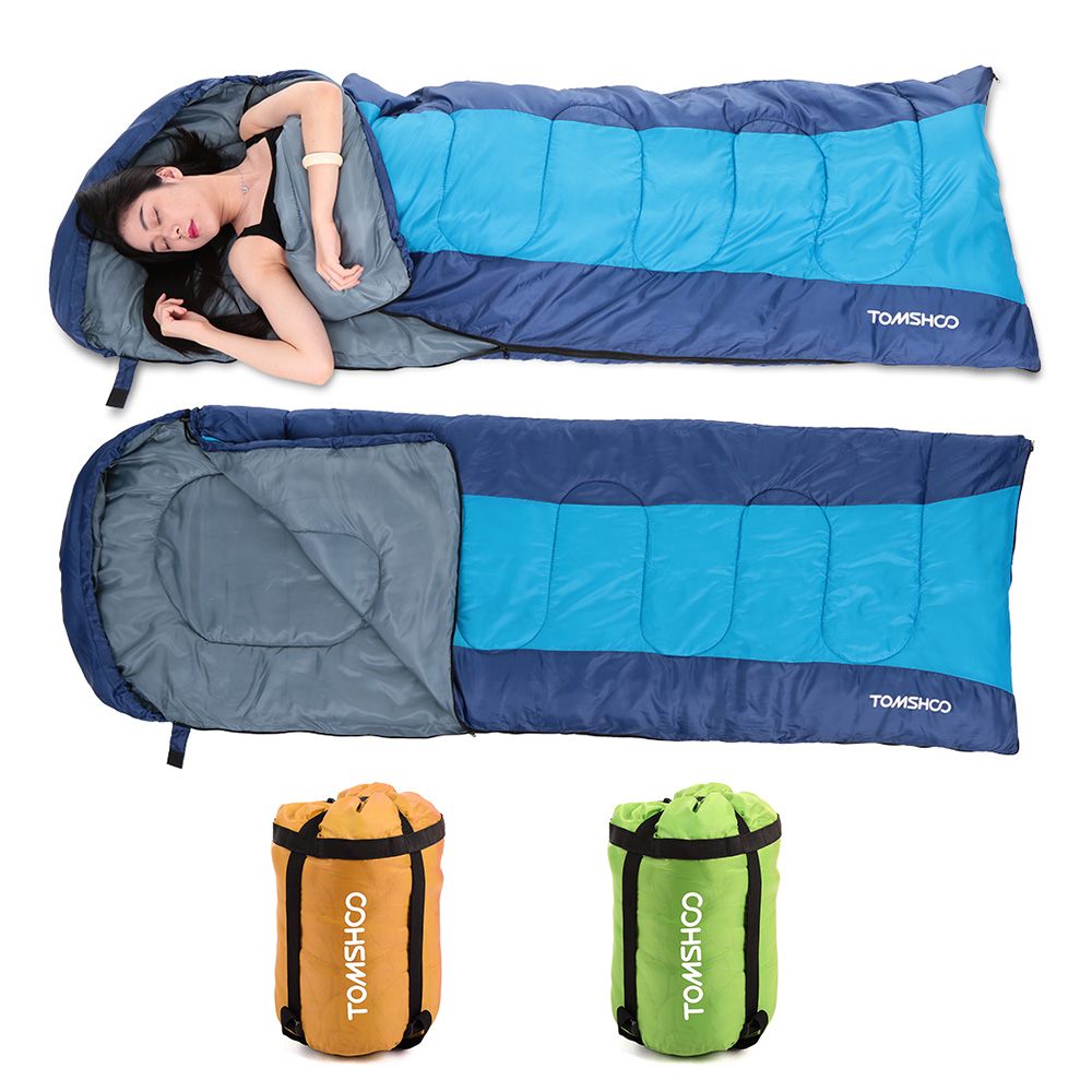 fae2c9fc18aa Multi Function Outdoor Camping Cotton Sleeping Bag Winter Envelope Hooded Sleeping  Bags Travel Thick Warm Sleep ...