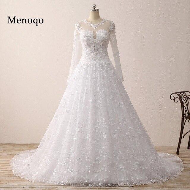 Us 133 33 33 Off Charming Desain Mewah Gaun Pengantin Nyata Contoh Pengadilan Kereta Bridal Gaun Panjang Lengan Wedding Dresses Vestido De Noiva