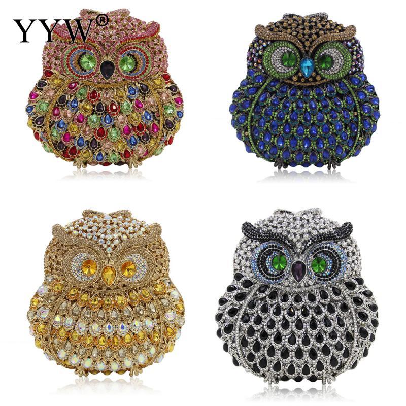 Mode Mini diamants sac de soirée strass embrayage femmes Bolsos Mujer Animal luxe bijoux sacs à bandoulière pour femmes 2018