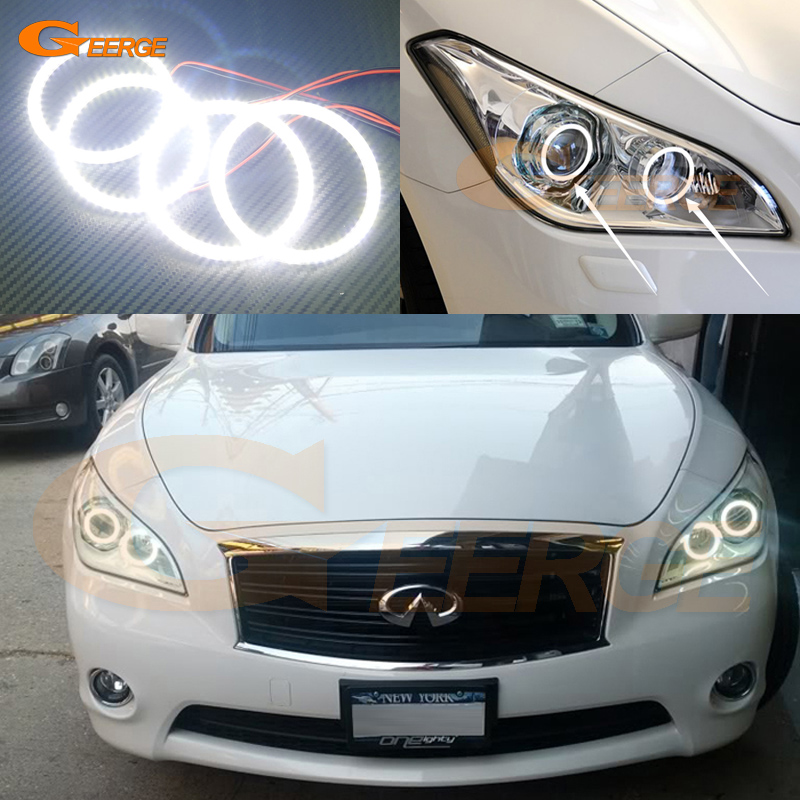For Infiniti M37 M56 Q70 2011 2012 2013 2014 Excellent angel eyes Ultra bright illumination smd led Angel Eyes Halo Ring kit