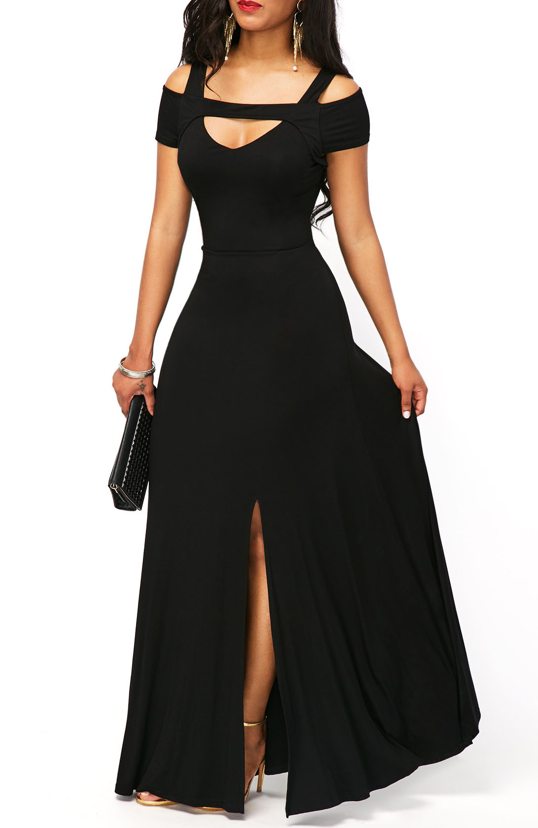 HTB1vUkmdvWG3KVjSZPcq6zkbXXak - Summer Dress Women Elegant Sexy V Neck Off Shoulder Split Long Party Dress Casual Plus Size Slim Ball Gown Maxi Dresses 5XL
