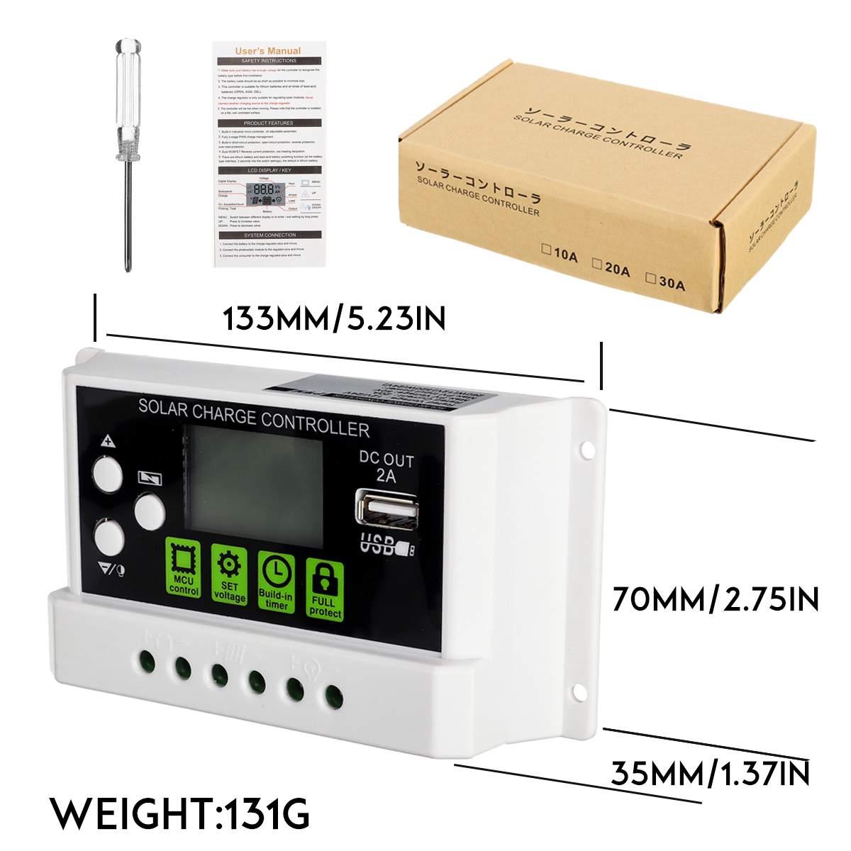 com lcd 12 24v regulador de painel de célula solar automático