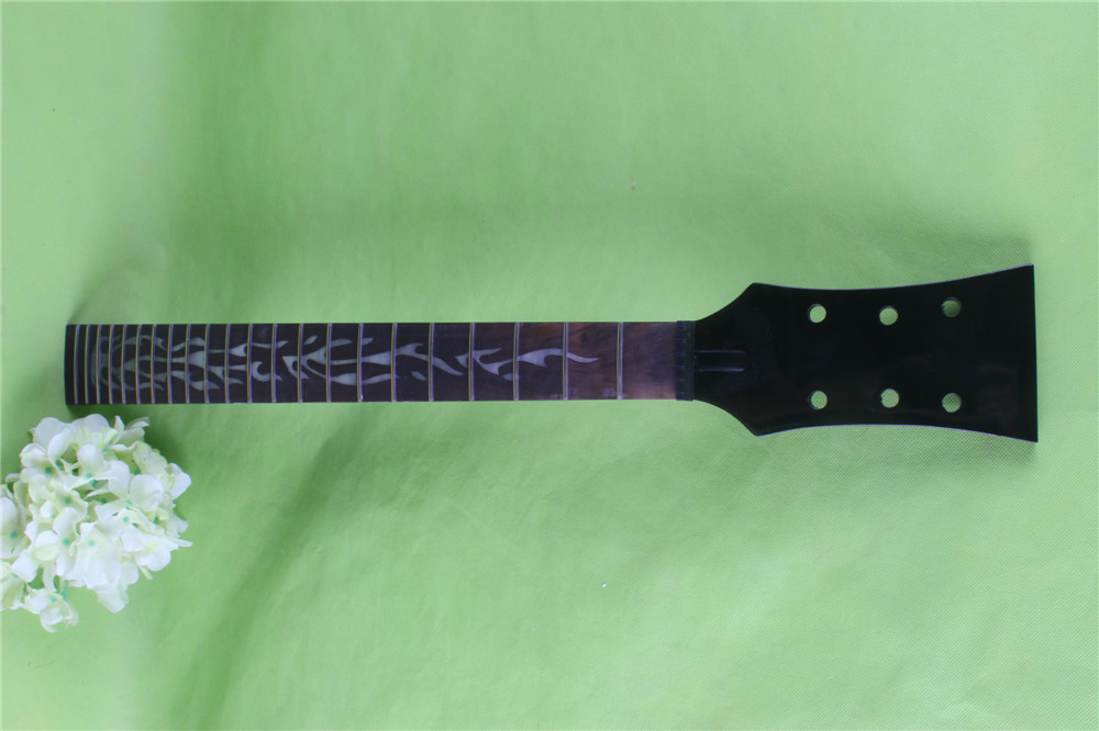 New black 22 fret One Good Unfinished electric guitar neck mahogany made and rosewood fingerboard black color 24 frets holt on one electric guitar neck mahogany wood and rosewood fingerboard 171