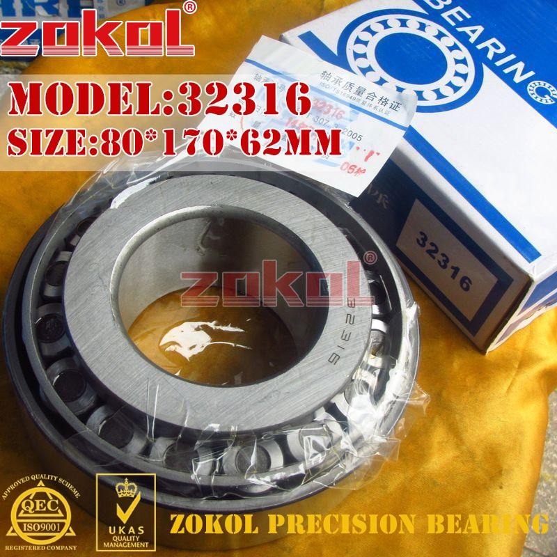 ZOKOL bearing 32316 7616E Tapered Roller Bearing 80*170*62mm zokol bearing 33216x2 7816e tapered roller bearing 80 140 45mm