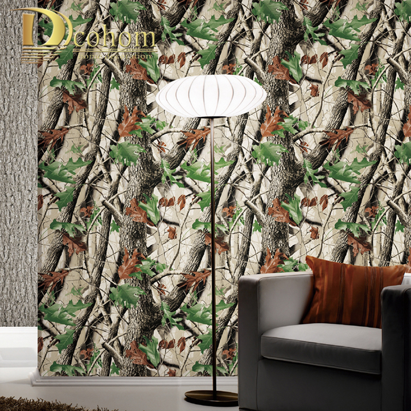 Us 29 99 40 Off Pvc Vinyl 3d Forest Birch Tree Wallpaper Modern Vintage Retro Woods Jungle Wall Paper Restaurant Feature Background Wall Decor In