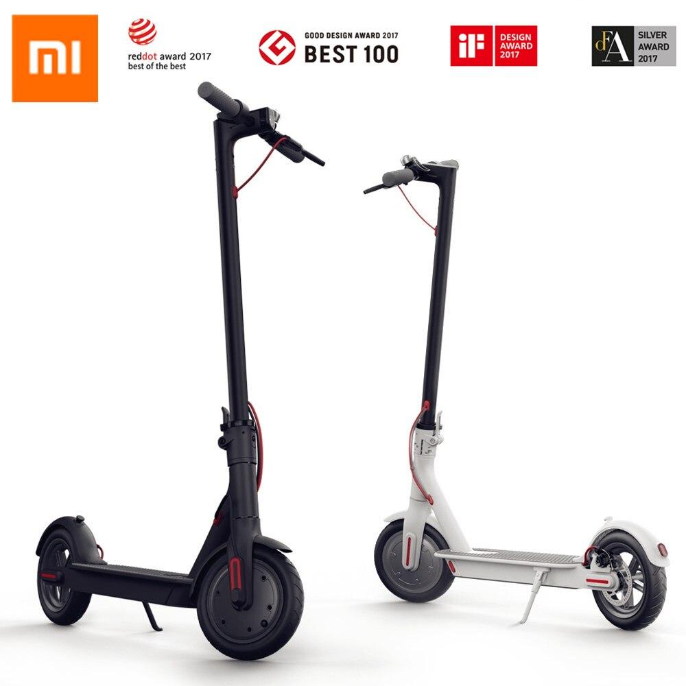 Оригинальный Xiaomi Mijia Smart Электрический складной скутер M365 2 колеса Ховерборд oxboard 30 км LG Батарея удар скутеры Поддержка App