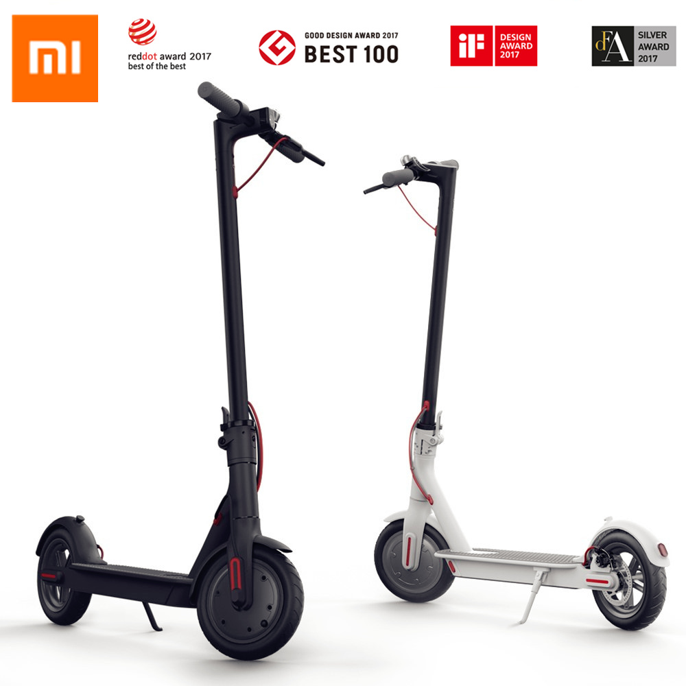 Original Xiaomi Mijia Smart Electric Foldable Scooter M365 2 Wheels Hoverboard Oxboard 30km LG Battery Kick Scooters Support App цена