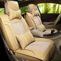 Tampa de Assento do carro Almofada de Couro Sênior + Silk Ice Car Acessórios, Esportes Tampas de Assento, Estilo do carro Cobre Para BMW Audi Ford Nissan