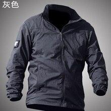 Летняя Водонепроницаемая быстросохнущая тактическая куртка для мужчин UPF 50+ дышащий плащ с капюшоном ветровка тонкая армейская военная куртка