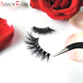 Arison Alisa 3D Mink Eyelashes Transparent Plastic Luxurious Thick fake eyelashes & permanent False Full Strip Mik Eyelashes