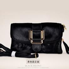 2016 новое прибытие настоящее конского волоса женская сумка высокого качества крупного рогатого скота сплит кожаная сумка черный и красный цвет