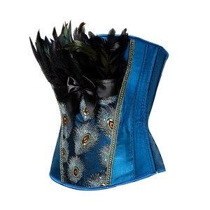 Image 2 - Caudatus espartilhos e corpetes bordados, princesa burleses, overbust, gótico, penas, modelador de roupas de corpo