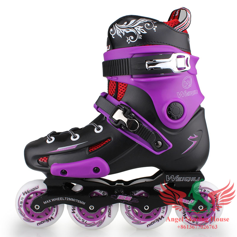 WeiQiu 5166 Adult Inline Skates Professinal Roller Skates Shoes Good  Quality Slalom Braking FSK Rollerblade Patins Ball 5166-in Skate Shoes from  Sports . 61e2ff8ec1