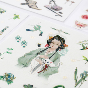 1 set/pack Flowers Totem Memo Stickers Pack Posted It Kawaii Planner Scrapbooking Stickers Stationery Escolar School Supplies