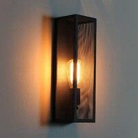 Промышленный стиль коридор настенный светильник Лофт ретро Свет Кафе Эдисон лампа Винтаж железные Настенные светильники Ресторан Бар Арт