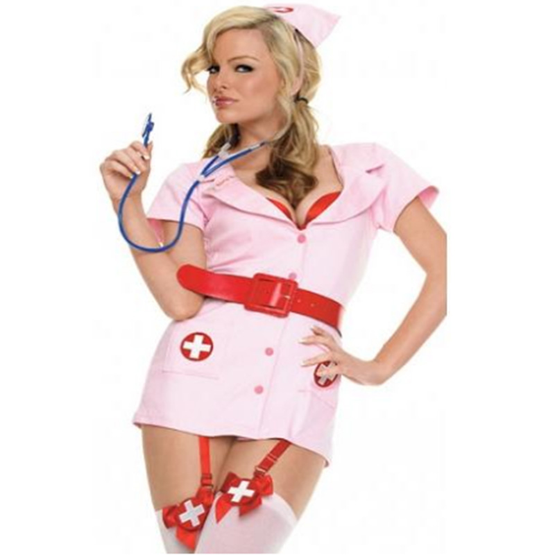 <font><b>Sexy</b></font> Nurse <font><b>Costume</b></font> <font><b>Set</b></font> Fantasias Hot Lingerie <font><b>2018</b></font> <font><b>Sexy</b></font> Erotic <font><b>Costumes</b></font> For Women Nurse Uniform Fancy Dress Halloween Cosplay image