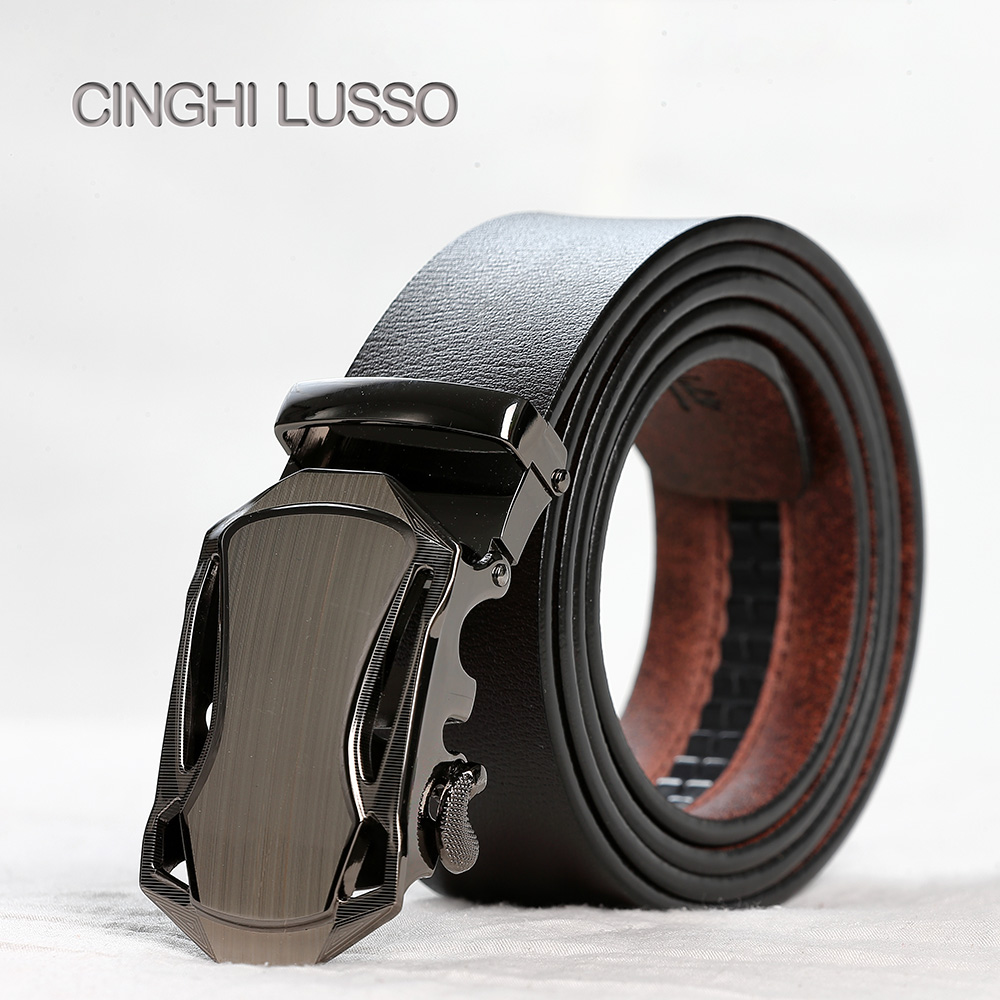 CINGHI LUSSO Self-designed Mens Belt Eather Designer Belts Men Luxury Strap Male Leather Automatic Buckle
