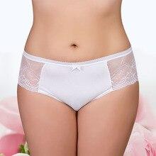 2016 Womens Ultrathin Sexy Lace Panties 95% Cotton + 5% Spandex Low-Rise Undies Lady Underwear Plus Size Briefs Knickers