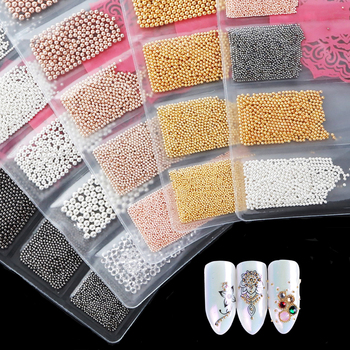 0.6mm Mini Small Nail Beads Stainless Steel Nails Art Decorations Gun Black Rose Gold Studs DIY Tool  Nail Studs
