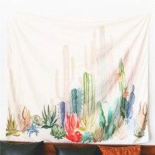 Mandala Cactus Tapestry Succulents 3D Flower Art Carpet Wall Hanging  Blanket Yoga Mat Decorative