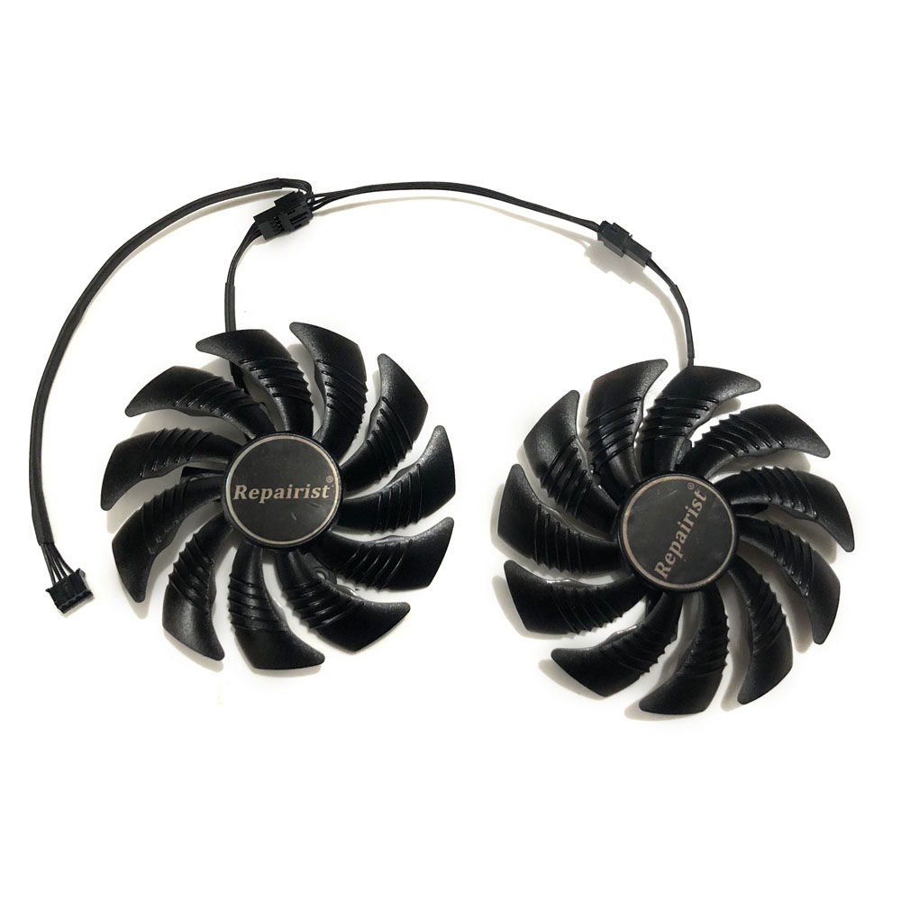 T129215SU 88mm GPU Cooler Graphics card fan for REDEON AORUS RX580/570 GIGABYTE GV-RX570AORUS GV-RX580AORUS Cards As Replacement