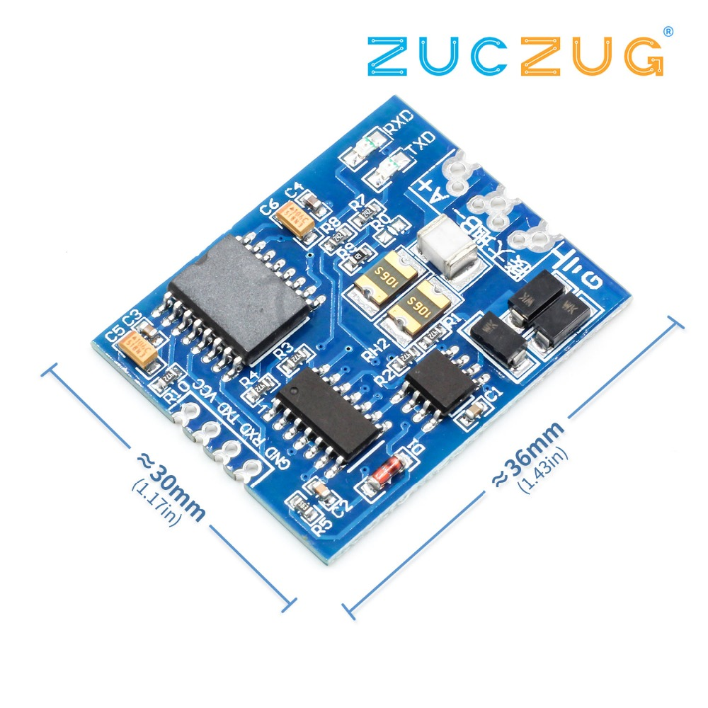TTL to RS485 Module RS485 Signal Converter 3V 5 5V Isolated Single Chip  Serial Port UART Industrial Grade Module