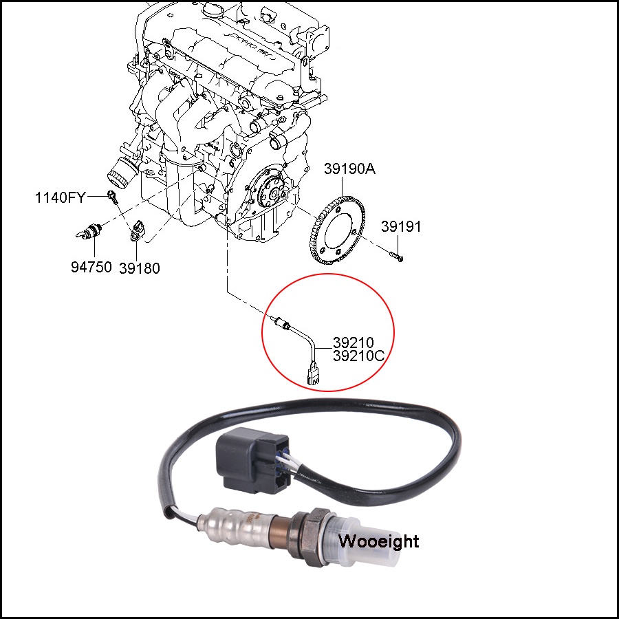 Replacement O2 Oxygen Sensor 3921023710 Car Accessories