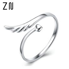 Adjustable Angel Wings Ring  Silver-Color Rings For Women Fashion Jewelry