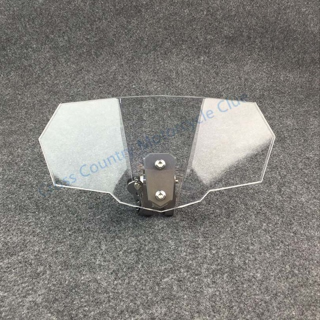 For Triumph Aprilia KTM Victory All Windshield Model Motorcycle Universal Airflow Adjustable Bolt On Variable Spoiler Windscreen