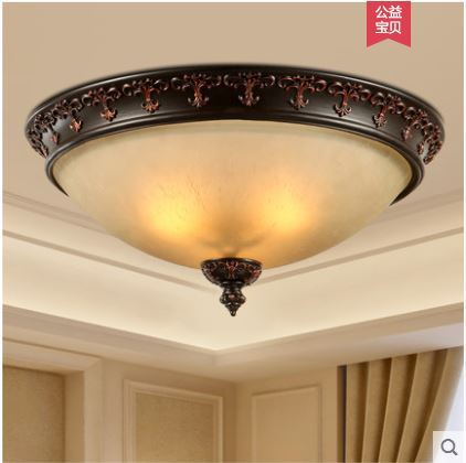 American country ceiling lamp master bedroom second bedroom bedroom round ceiling aisle kitchen American lamp