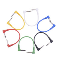 6 Color Guitar Effect Cable Double Curved Plug Applies To All Kinds Of Guitar Effect Pedal