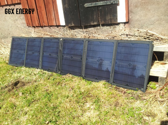 GGX ENERGY 5pcs/lot 60W/18V Foldable Solar Panel+Solar Controller+Crocodile Clip to 12V Battery+10 Connectors Charging Laptop 5pcs lot intersil isl8121irz isl8121qfn 3v to 20v two phase buck pwm controller with integrated 4a mosfet drivers