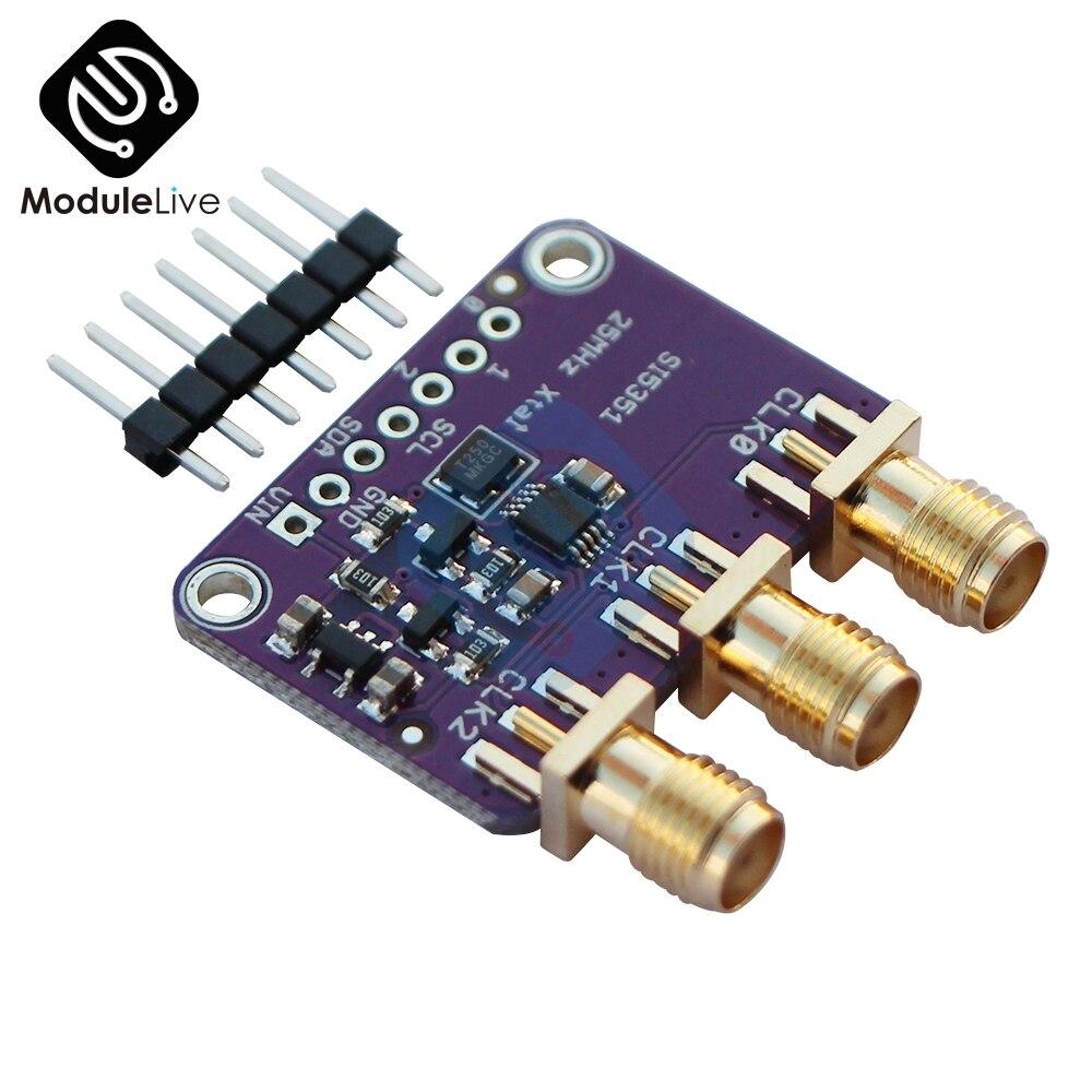 DC 3 V-5 V CJMCU-5351 Si5351A Si5351 I2C horloge générateur panneau de rupture Module Signal générateur horloge 8 KHz-160 MHz pour Arduino