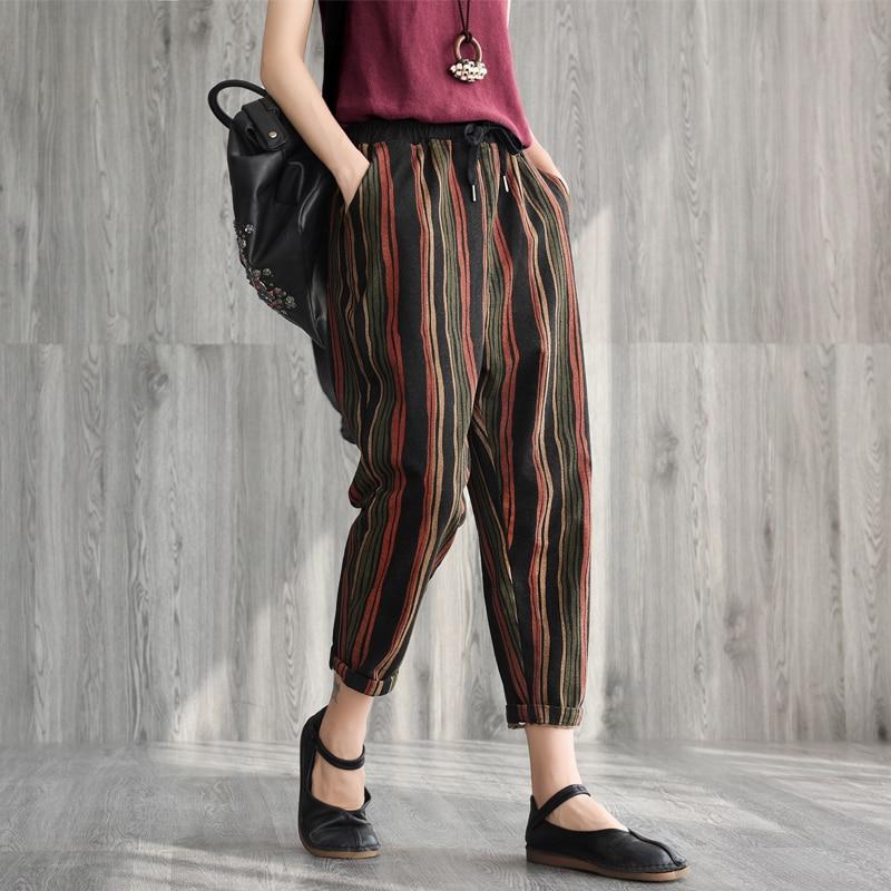 c0056d03ff298 Mori Figure 1 pantalon Rayé Slim Type D'automne Pantalon Nouvelle Printemps  De 2 Elastique Fille ...