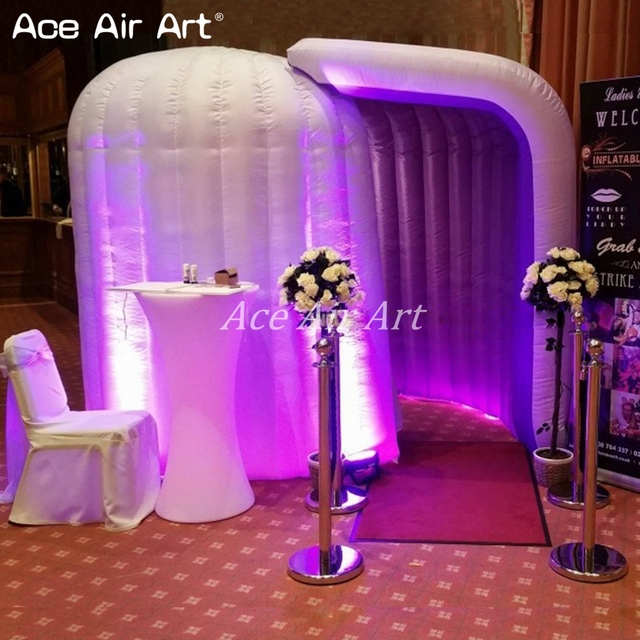 can add you  logo cool clap inflatable dome photo booth enclosure tent for party decoration rental