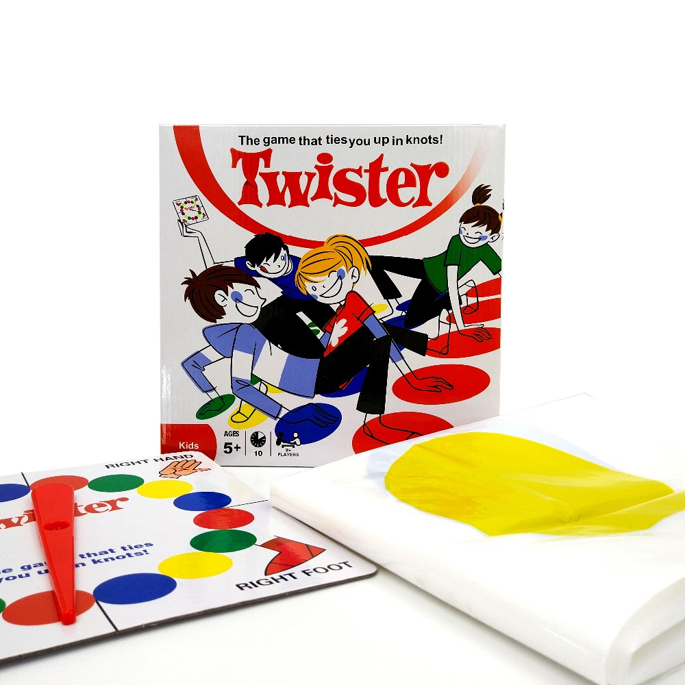 1Set Twister The Game That Ties You Up In Knots Board Game Classic Family Party Fun Game With Box