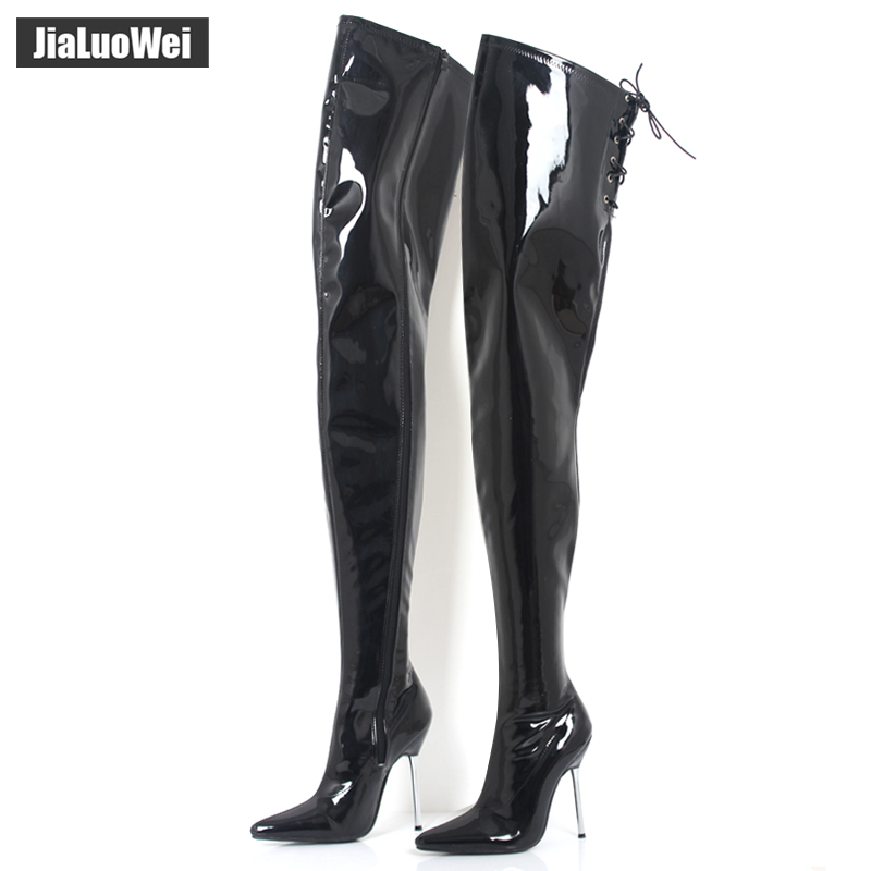 2017 Big Size Women's Winter/Autumn Folding Over the Knee Boots Sexy Thin High Heel Boots Fashion Pointed toe Boots Women Shoes pointed toe over the knee boots women high heels sexy motorcycle boots winter shoes women pumps fashion ladies shoes big size