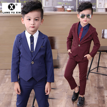 Children's Clothing Formal Suit Two Sets Pants Blazer Flower