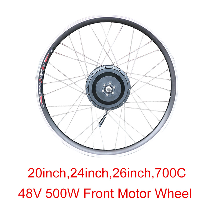 48v 500w High Speed Brushless Gear Hub Motor Wheel 20 quot 24 quot 26 quot 700C E bike Motor Front Wheel Drive Electric Bicycle Accessories in Electric Bicycle Motor from Sports amp Entertainment