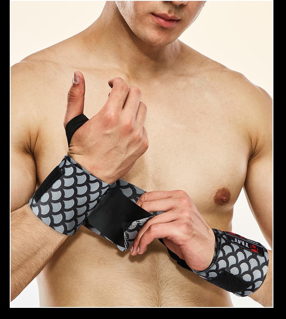 Tmt ajustável pulseira elástica pulso envolve ataduras