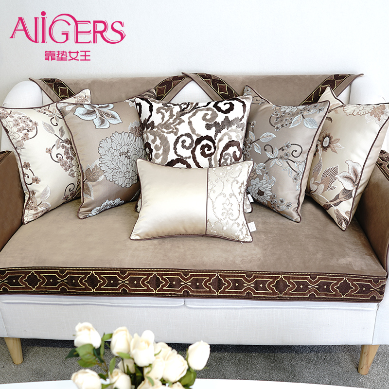Avigers Modern Cushion Cover Luxury Embroidery Velvet Pillowcase Core Emoji Smile Christmas Home Decorative Sofa Throw Pillow ...