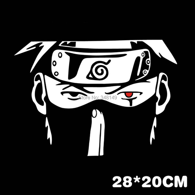 Kakashi Naruto Cartoon Car Stickers
