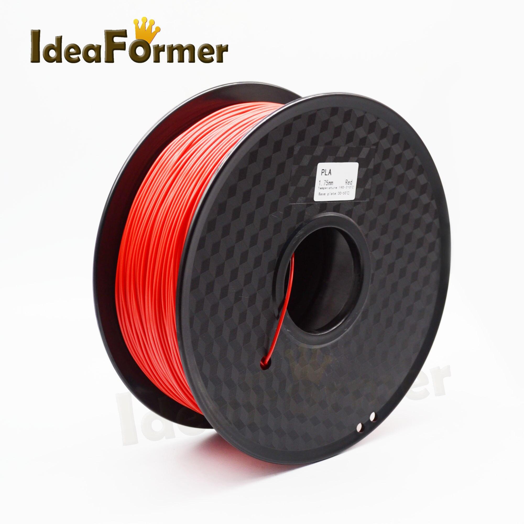 PLA Fliament 1KG Material Various colors 1.75mm plastic filaments 3D printer parts 3d printer material pla filaments consumables 3mm 1kg plastic cable