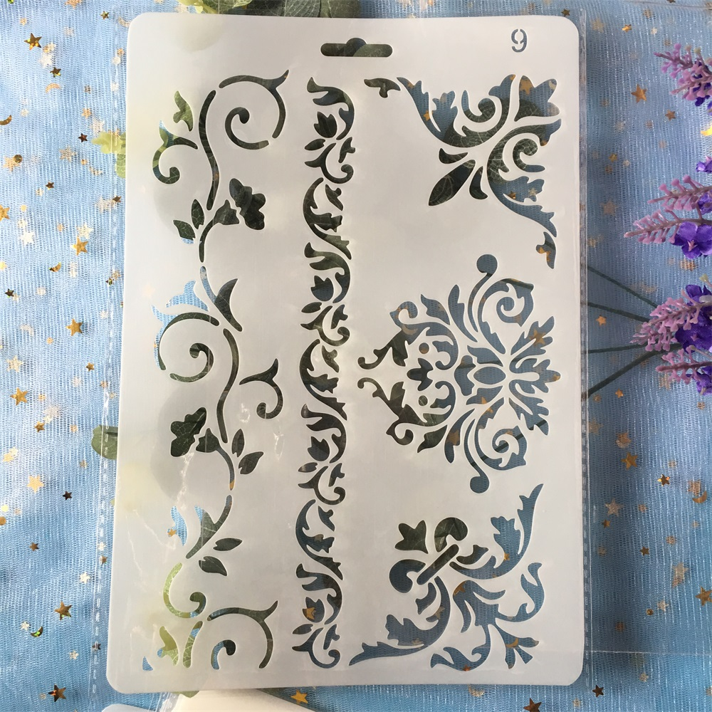 26cm Floral Frame Edge DIY Craft Layering Stencils Painting Scrapbooking Stamping Embossing Album Paper  Template
